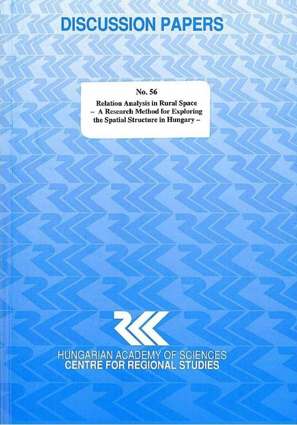 cover_Relation Analysis in Rural Space - A Research Method for Exploring the Spatial Structure in Hungary