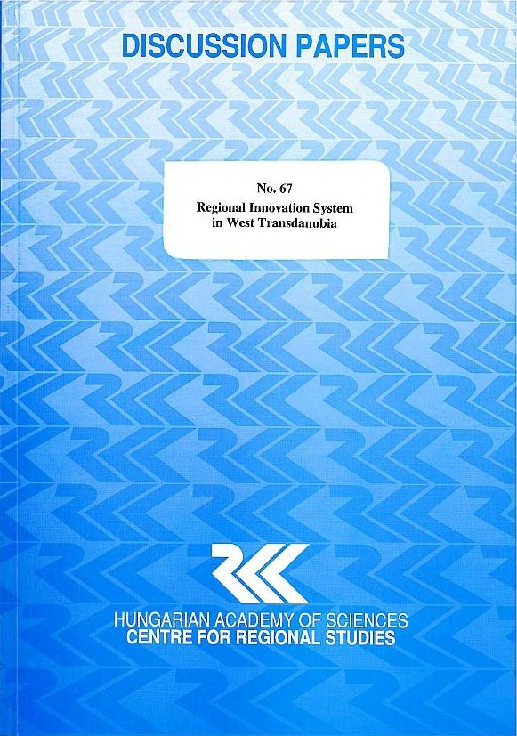 cover_DP_Regional Innovation System in West Transdanubia