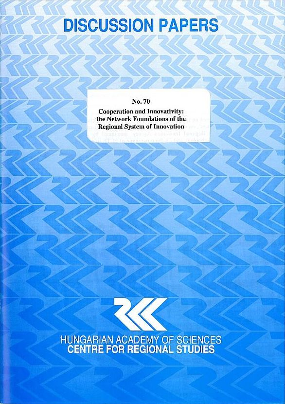 cover_Cooperation and Innovativity: the Network Foundations of the Regional System of Innovation